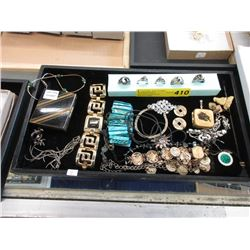 Tray of Jewelry and Collectibles