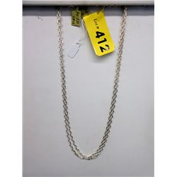 "2 New Sterling Silver 20"" Gucci Link Chains"