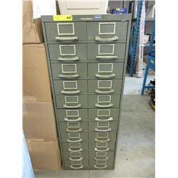 Vintage Remington Rand Metal Index File Cabinet