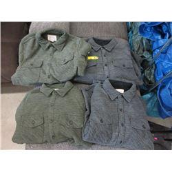 4 New Boston Traders Fleece Jackets - Size M