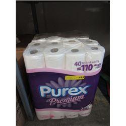 2 New 40 Roll Packs of Purex Premium Toilet Paper