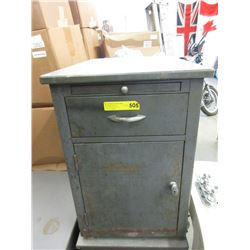 Vintage Metal Office Cabinet with Drawer