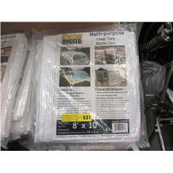 2 New Multi-Purpose 8 x 10 Foot Clear Tarps