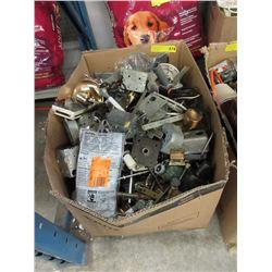 Large Box of Assorted Hardware