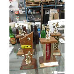 4 Vintage Bowling Trophies