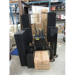 13 Pieces of Assorted Speakers & Electronics