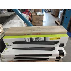 "3 New 24"" Main Floating Shelves - Black"