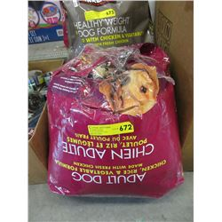 15.9 KG Bag of Kirkland Dry Dog Food - Resealed
