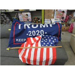 New USA Flag & Trump Flag