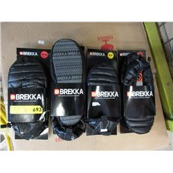 4 New Pairs of Brekka Puffy Slippers
