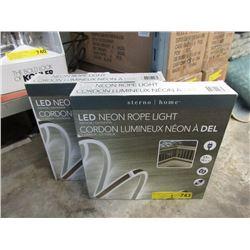 2 New LED Neon Rope Lights - Indoor/Outdoor