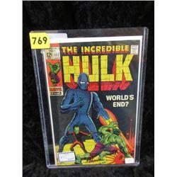 """1969 """"Incredible Hulk #117"""" Marvel Comic"""