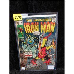 "1971 ""Iron Man #36"" 15¢ Marvel Comic"