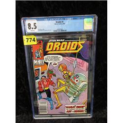 "Graded 1986 ""Droids #3 Star Wars"" Marvel Comic"