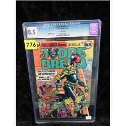 """Graded 1984 """"Judge Dredd #14"""" Eagle Comic"""