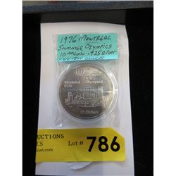 1976 Montreal Olympics .925 Silver $10 Coin