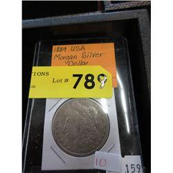 1889 USA Morgan Silver Dollar Coin - .900 Silver