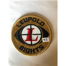 """RARE Vintage Outdoors """"LEUPOLD SIGHTS"""" Patch in Like New Condition"""
