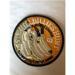 """RARE LARGE Vintage Outdoors """"THOMPSON CENTER ARMS SLY HILLBILLIES HUNT"""" Patch in Like New Condition"""