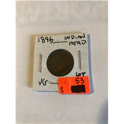 1896 Key Date Indian Head Cent in Very Good Grade