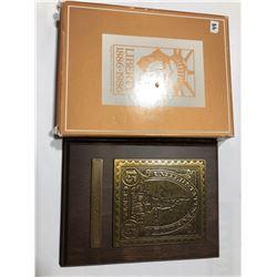 Avon 1922 Statue of Liberty Brass Stamp