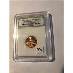 2000 P Lincoln Presidency Penny Certified Commem Issue BU