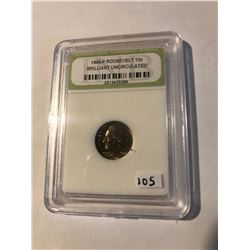 1984 P Roosevelt Dime Certified Brilliant Uncirculated