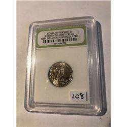 2006 D Jefferson RETURN to MONTICELLO Nickel GEM BU