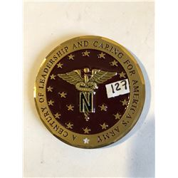 EXTREMELY RARE Large NURSE CORPS Challage Coin by General