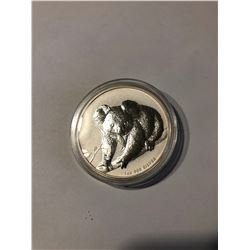 2010 1oz BU .999 Fine Silver Australian Koala 1 Dollar in Hard Display Case