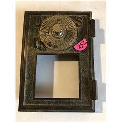 RARE 1800s US Post Office Metal Door Letter Combo