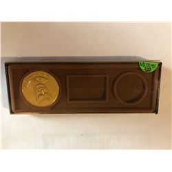 John F Kennedy Large Medal Coin in box in MS High Grade