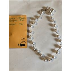 Natural Vintage PEARL and Sterling Silver Neclace