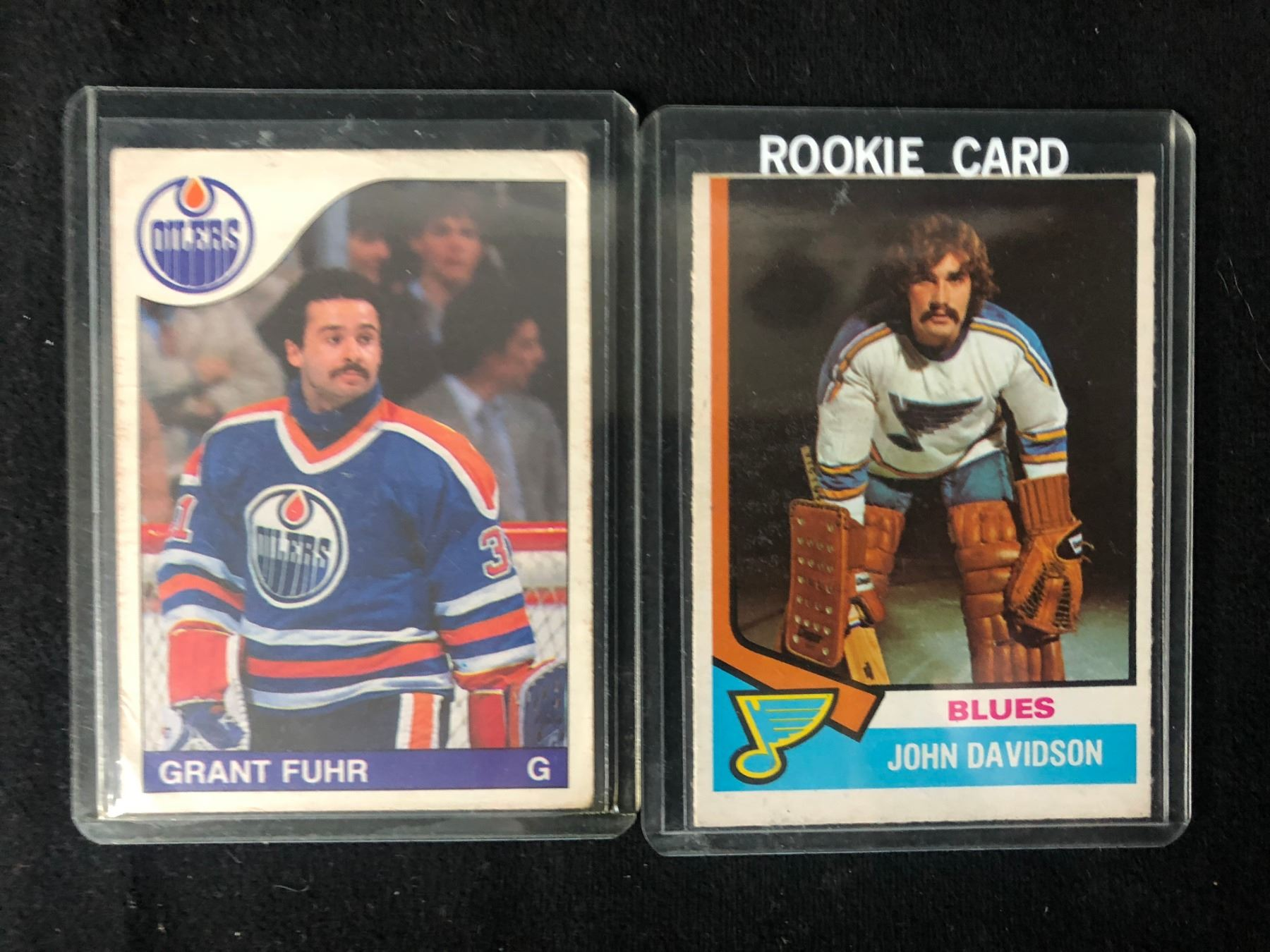Grant Fuhr John Davidson Hockey Card Lot