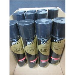 11 New Cans of Silk Professional Hair Spray / Mega Hold /  8oz cans