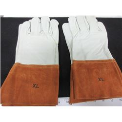 2 New Pairs of Mig/Tig Welding Gloves / top grain Soft  Leather/msrp22.99 ea