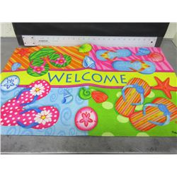 New rubber back Welcome Mat 18 x 30
