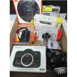 Flat of Electronics and Accessories / cd player / monoxide alarm and more