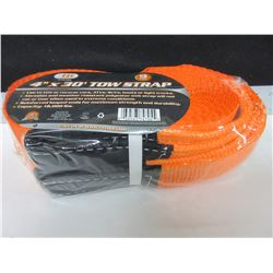 New 4 inch x 30 foot 9 ton / 18,000lb Tow Strap / will not rot or tear in