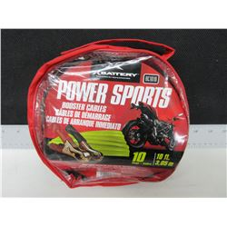 New 10ft PowerSport Booster Cables / for Sleds-ATV-Bikes compact easy to store