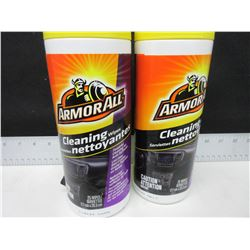 2 Armour All Cleaning Wipes / 25 wipes each / lint free won't leave residue