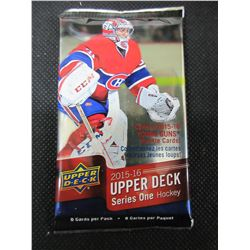 Upper Deck 2015/16 series one Hockey cards 8 pack Factory sealed