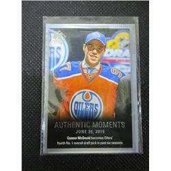 Connor McDavid Authentic Moments Rookie card #153