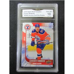 Connor McDavid Rookie Card Upper Deck graded 10 gem mint # 6
