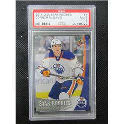 Connor McDavid Rookie Card Upper Deck graded # 1 Mint 9