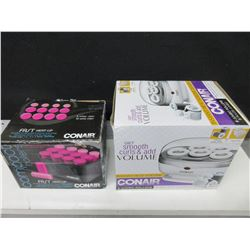 2 New Sets of Conair Rollers / 1 set with 12 rollers 1 set of 5 Jumbo rollers