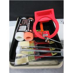 New Painting bundle / 2 trays / 2 rollers and handle / 3 brushes & can holster