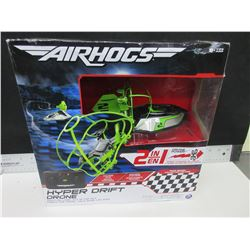 New Air Hogs Hyper Drift Drone 2 in 1 / high speed hovercraft or fly- drone