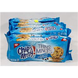 5 PACKS OF CHIPS AHOY THINS ORIGINAL