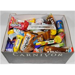 BOX OF ASSORTED CHOCOLATE BARS AND CANDY